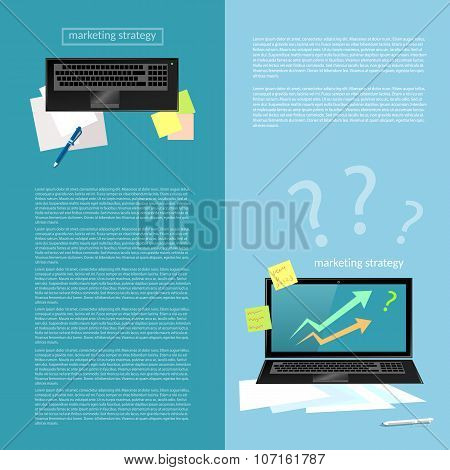 Effective Business Financial Analyst Graphics Planning Sales Charts Laptop Process Works banners