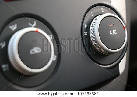 car air conditioner button