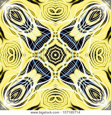Abstract magic yellow glow - decorative pattern and shape