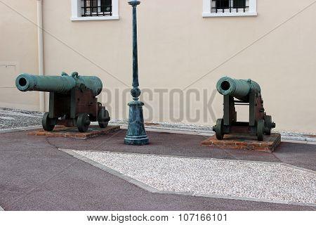 Old Cannon In Monaco
