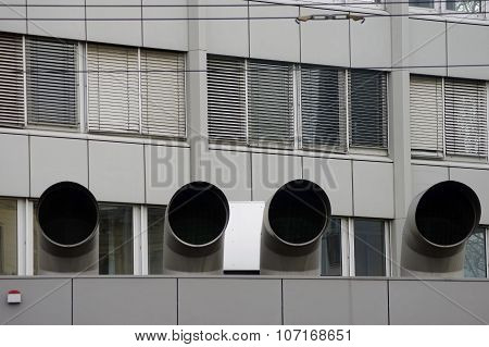 Large ventilation pipes