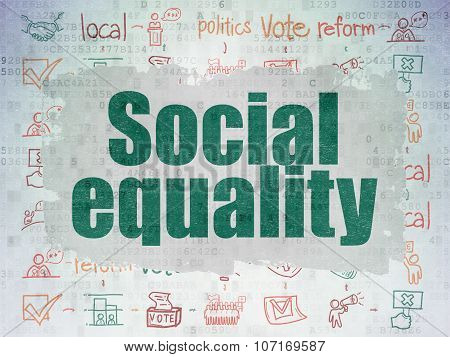 Politics concept: Social Equality on Digital Paper background