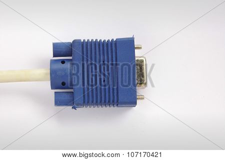 VGA port cable connector