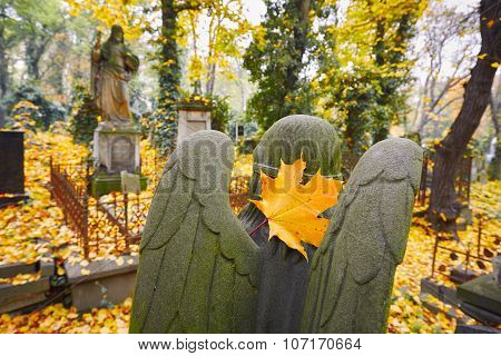Old Cemetery In Autumn