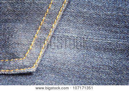 Blue jean textile texture