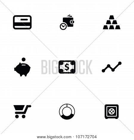 Finance 9 Icons Set