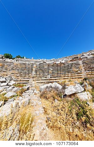 The Old  Temple And Theatre In Termessos Antalya