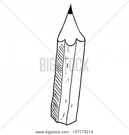 simple black and white pencil cartoon