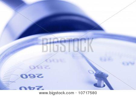 Manómetro médica Closeup