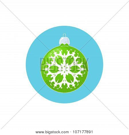 Icon Green Ball with Snowflake