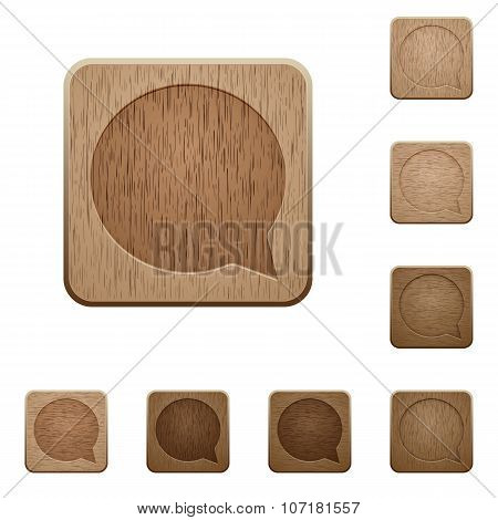 Chat Wooden Buttons