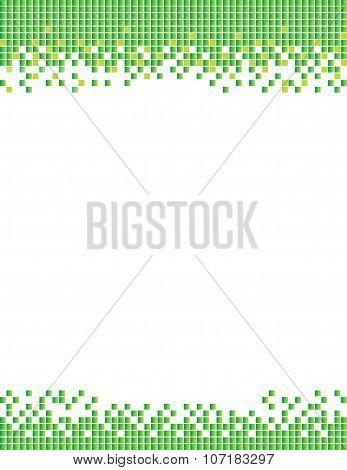 Pixel Squares Background Green