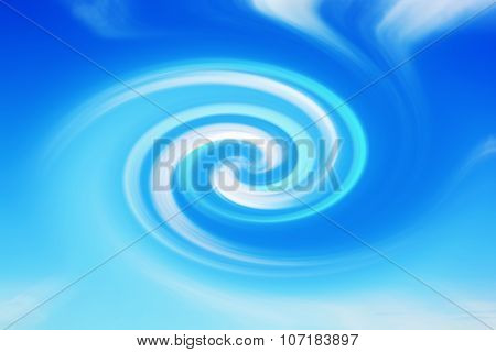 Abstract white cloud twirl in sky background