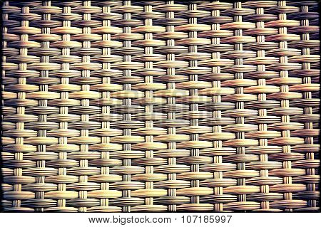 Weaved Rattan Texture As Abstract Background.