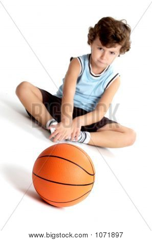 Adorable Boy Sad Without Playing