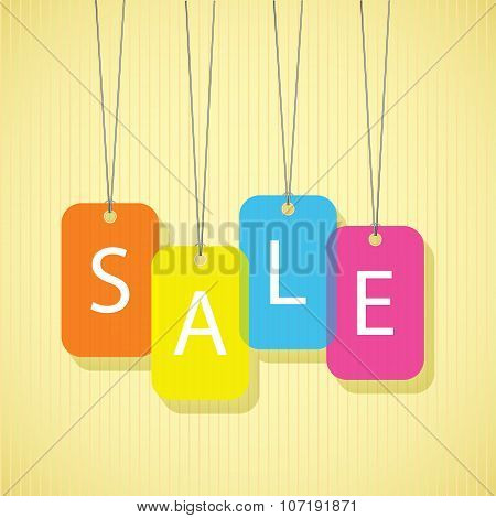 SALE poster labels with white letters