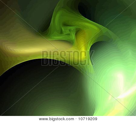 one vector illustration of digital abstract fractal