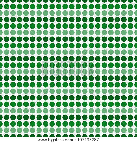 Green And White Polka Dot  Abstract Design Tile Pattern Repeat Background