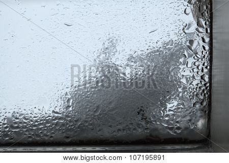 Closeup Of Humidity At A Window