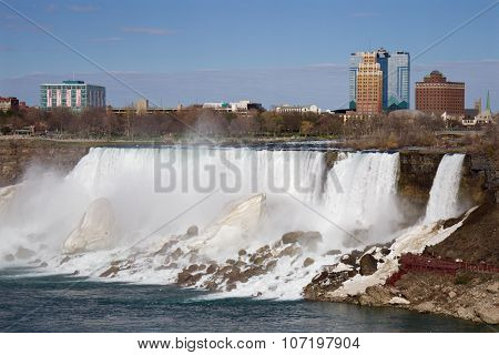 The Image Of The American Part Of The Niagara Falls