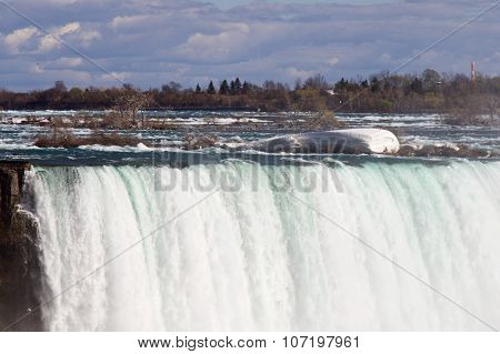 Beautiful Photo Of The Powerful Niagara Falls And The Ice