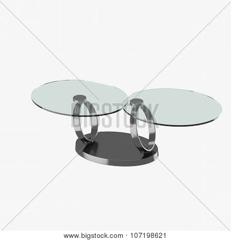Modern Table With Glass Tabletops