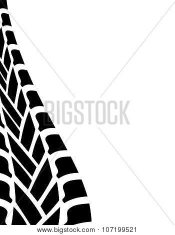 Black White Tire Track Background