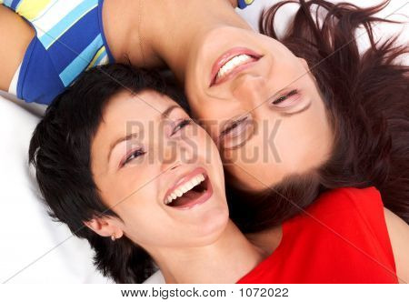 Happy Sisters Laughing