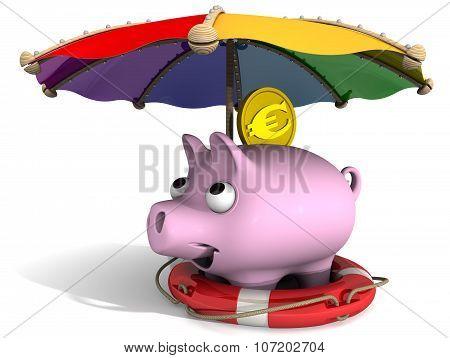 Secure financial savings. Concept