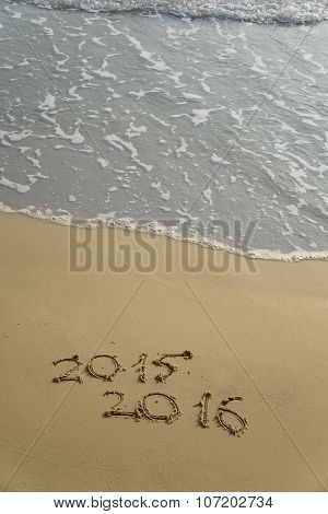 2015 And 2016 Year On The Sand Beach
