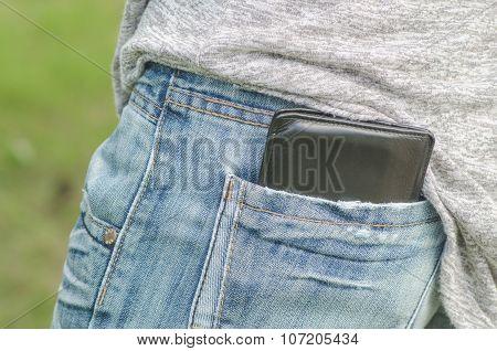 Black Wallet In The Back Pocket
