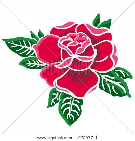 red rose cartoon