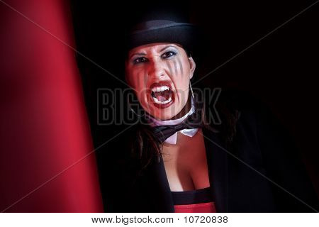 Vampire Woman In Top Hat