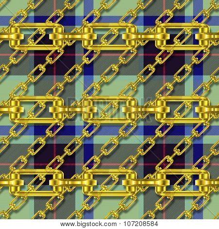 Iron Chains with Tartan Seamless Texture