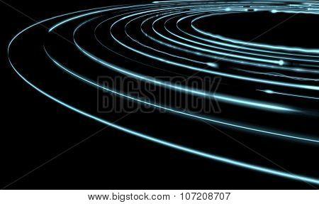 Orbiting Light Trails