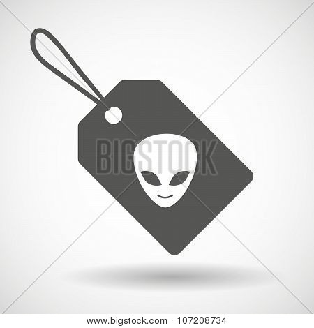 Label Icon With An Alien Face