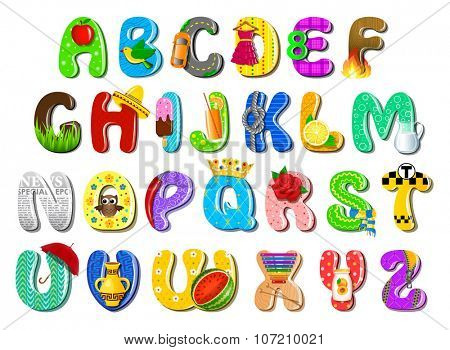 Colorful children's alphabet