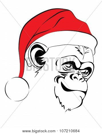 evil monkey in Santa hats