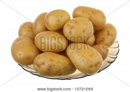 Potato in a glass plate