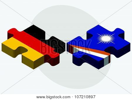 Germany And Marshall Islands Flags