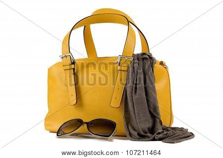 woman accessories isolated