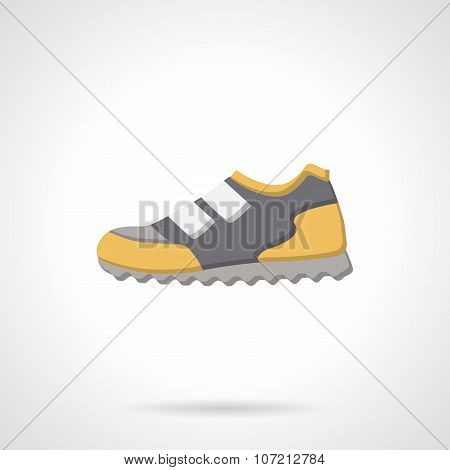Colored sport sneaker flat vector icon