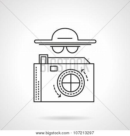Paparazzi flat line vector icon