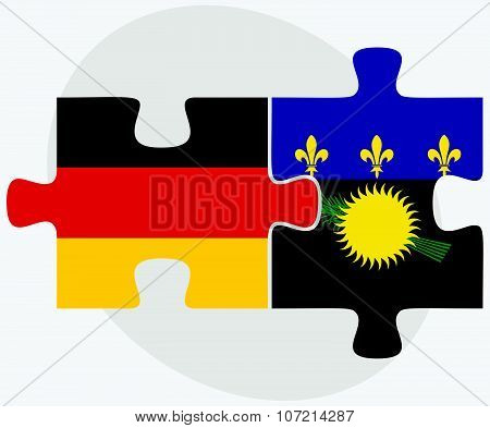 Germany And Guadeloupe Flags