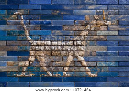 Dragon from Ishtar Gate of Babylon, constructed in about 575 BC