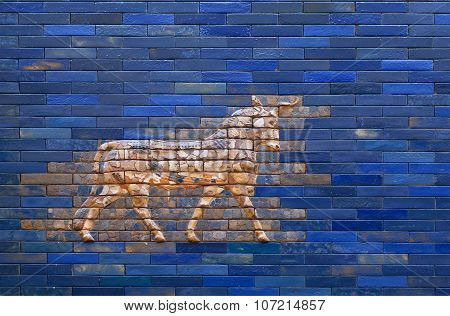 Aurochs from blue Ishtar Gate of Babylon