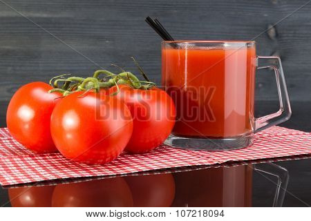 Mug Tomato Juice And Tomatoes