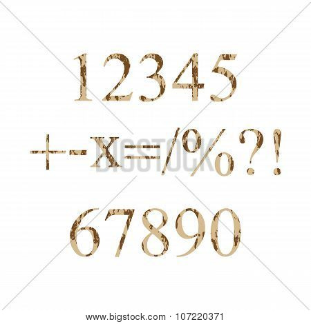 Numbers Grunge