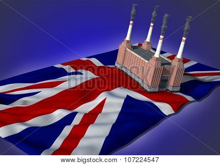 national heavy industry concept - UK theme