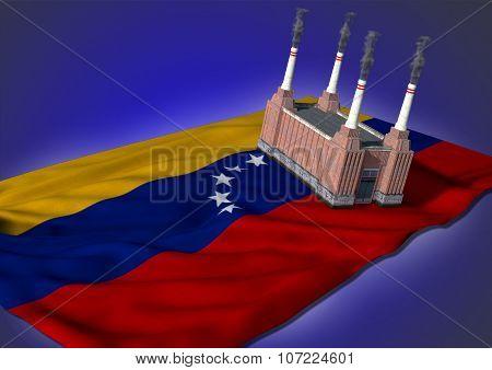 national heavy industry concept - Venezuelan theme